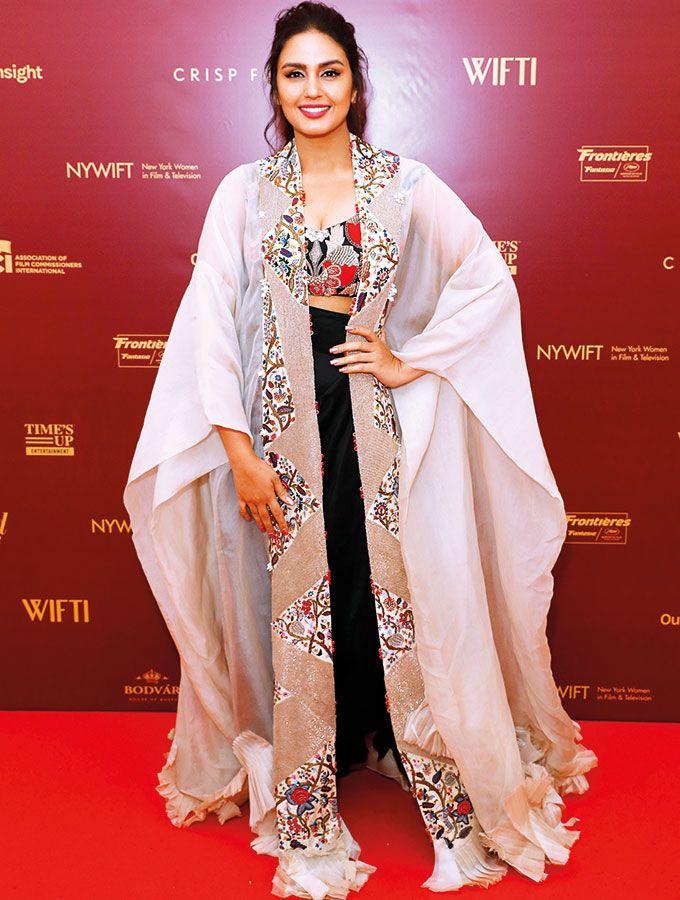 Huma Qureshi wearing Indian designer Anamika Khanna.