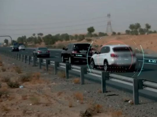 Sharjah Police tailgating campaign