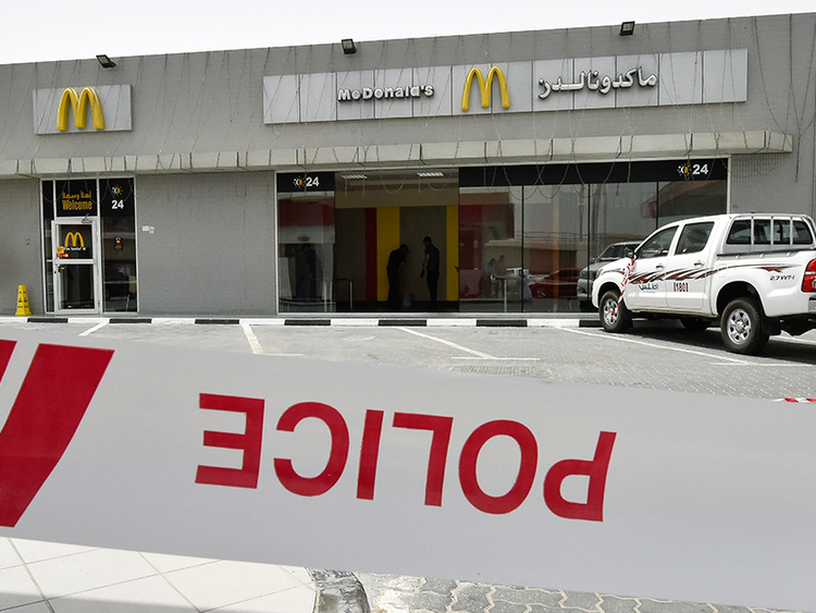 Driver in McDonald's Ajman crash had epileptic attack