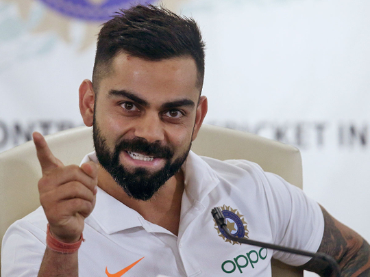 Indian captain Virat Kohli