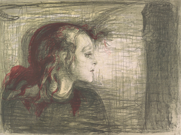 The Sick Child,1896 by Edvard Munch.-1558426044749