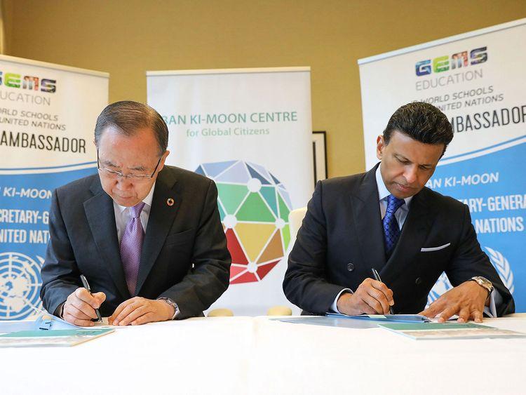 Ban Ki-moon and Sunny Varkey