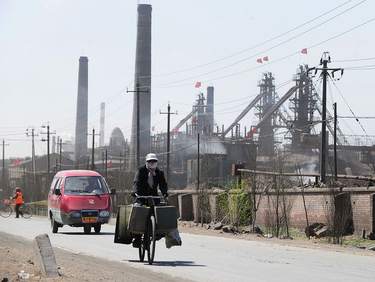 Factories processing rare earths