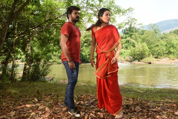 Jai with Catherine Tresa in Neeya 2-1558507495629
