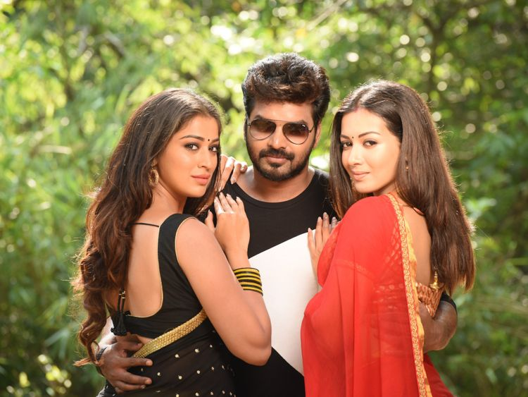 Jai with Lakshmi Rai and Catherine Tresa-1558507498837
