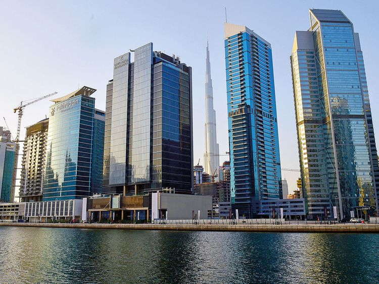 Office towers in Business Bay