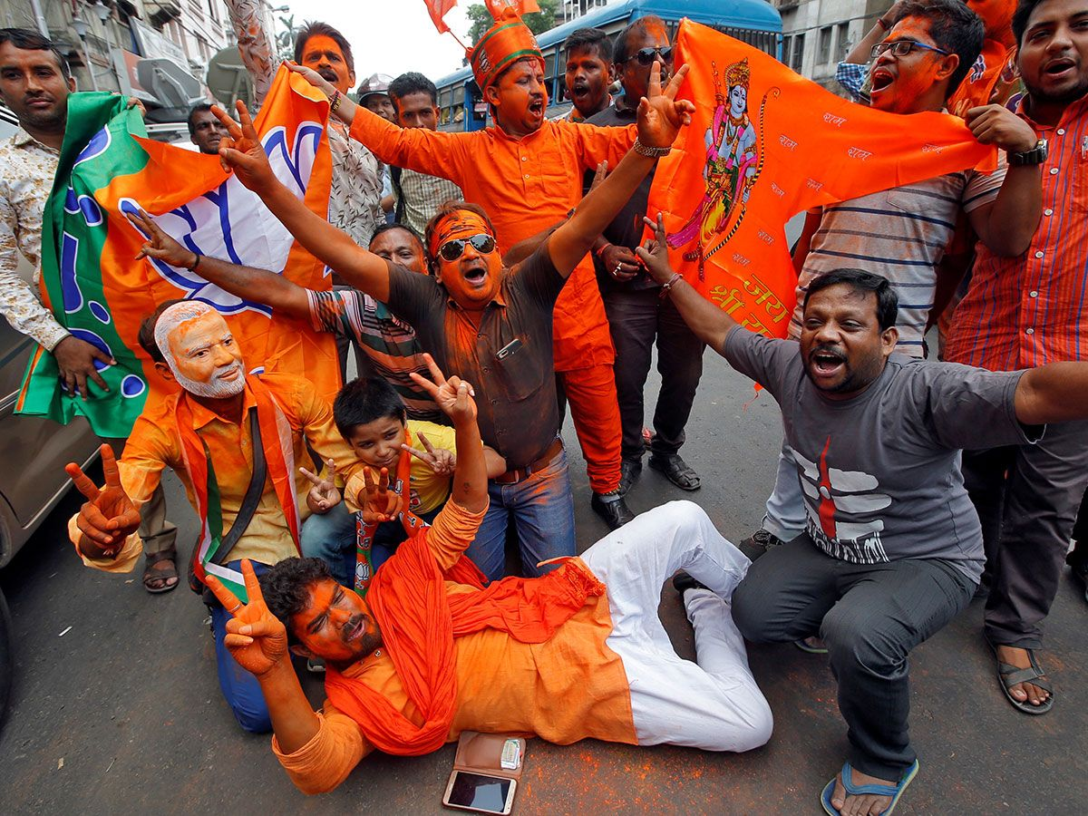 190523 bjp supporters india