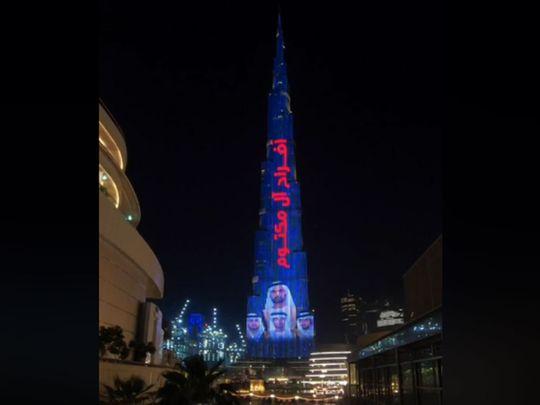 Burj Khalifa celebrates wedding