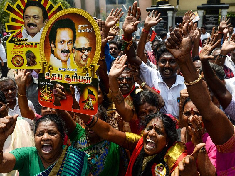 DMK supporters