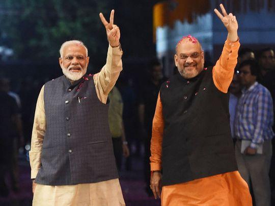 Prime Minister Narendra Modi and president of BJP Amit Shah
