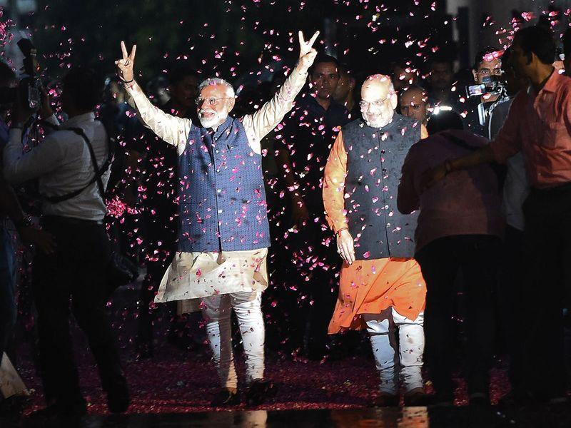 Prime Minister Narendra Modiand president of BJP Amit Shah
