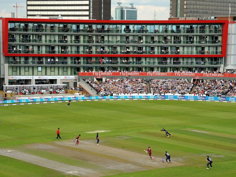 Old Trafford cricket ground in Manchester