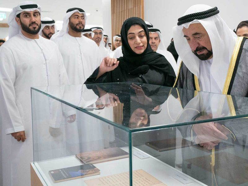190527 Shaikh Dr. Sultan bin Muhammad Al Qasimi inaugurating the first Emirati Book Fair (EBF 2019)