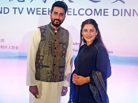 Nabeel Qureshi and Fizza Ali Meerza at the Asia Film and TV Week, China-1558943150513