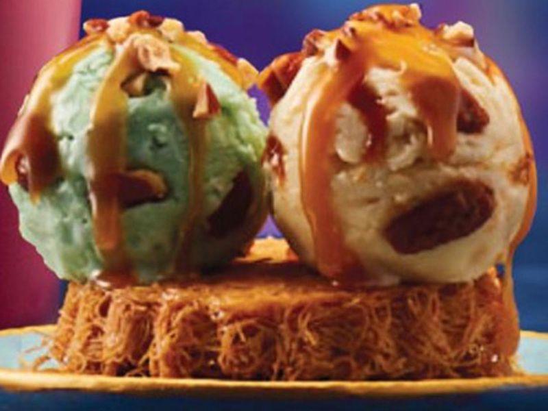 The Kunafa Sundae From Baskin-Robbins