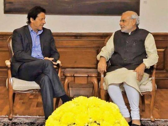 Pakistan Prime Minister Imran and Indian Prime Minister Modi