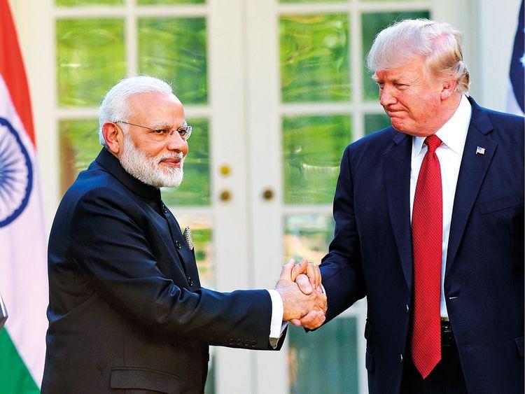 President Donald Trump and Indian Prime Minister Narendra Modi