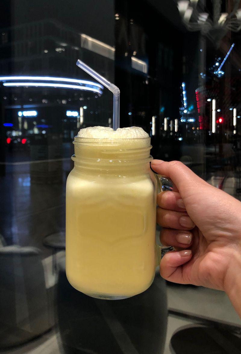 Saffron milkshake