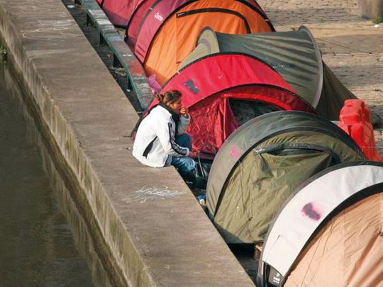 Tents for homeless people
