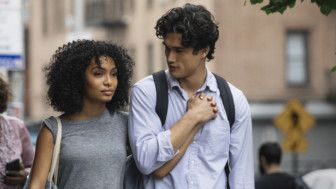 tab Yara Shahidi and Charles Melton in The Sun Is Also a Star (2019)-1559126372434