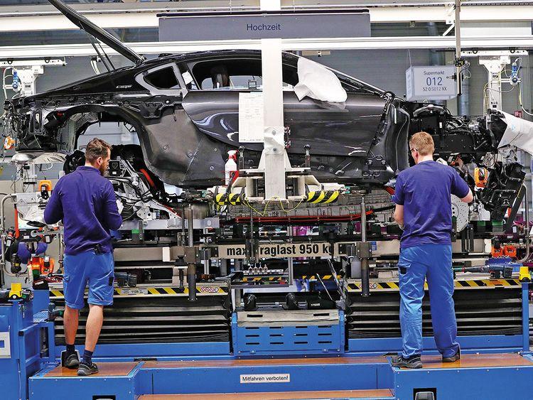 A BMW factory in Leipzig