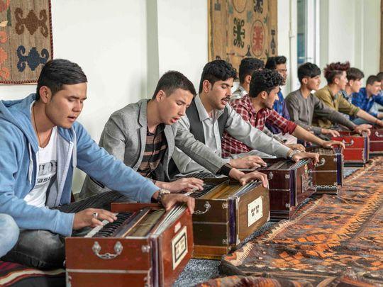 Harmonium class in Kabul