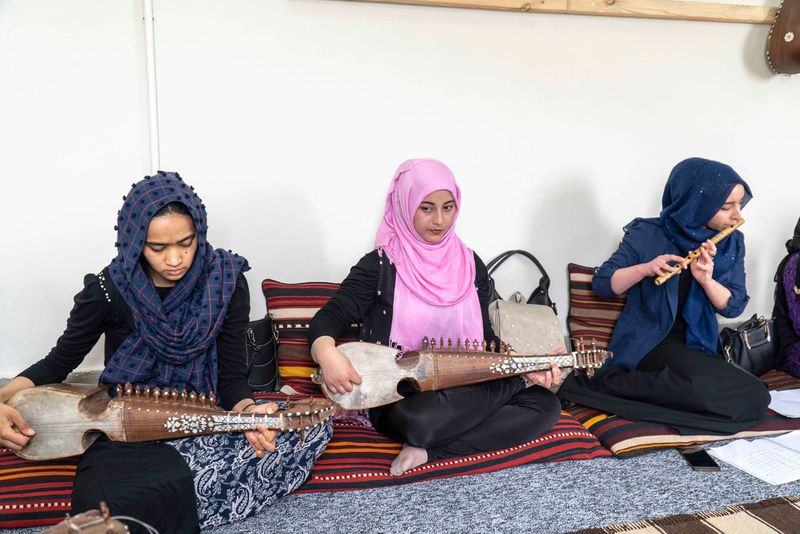 Rubab and flute class