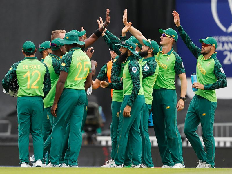 The South African team