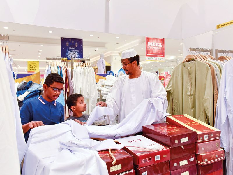 Shoppers at Lulu Hypermarket in Al Qusais, Dubai