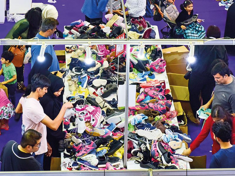 Shoppers at Ramadan Nights in Sharjah Expo Centre