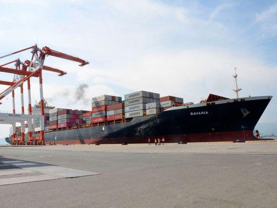 The cargo ship M/V Bavaria
