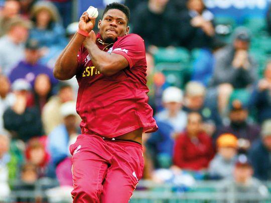West Indies' Oshane Thomas