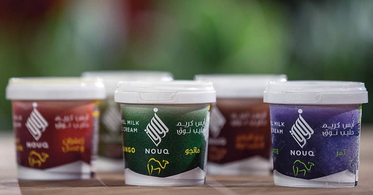 Nouq ice cream is made from Camel's milk