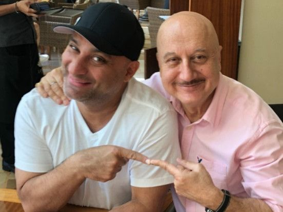 tab  Anupam Kher with Russell Peter instagram-1559468173696