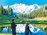 Summer scenery at Fairy Meadows