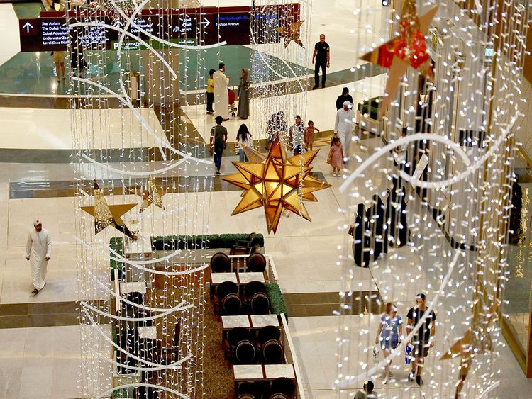 Eid decorations at Dubai Mall