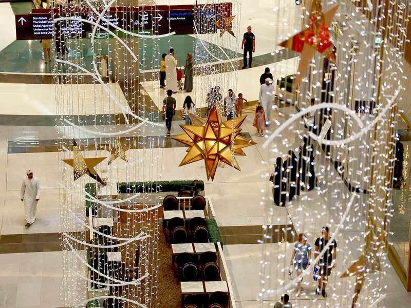 Eid decorations at Dubai Mall