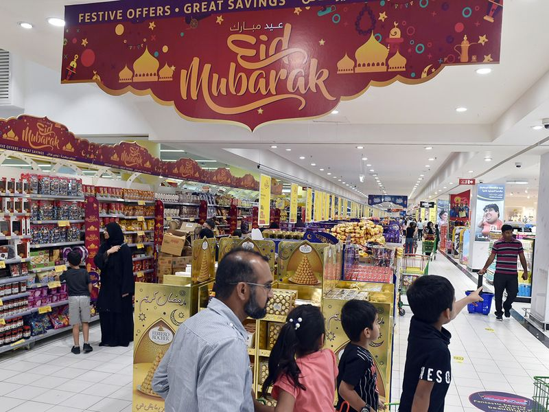Eid rush at the Al Wahda Lulu mall in Abu Dhabi