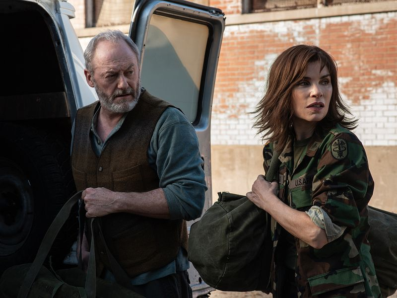 Liam Cunningham and Julianna Margulies in 'The Hot Zone'.