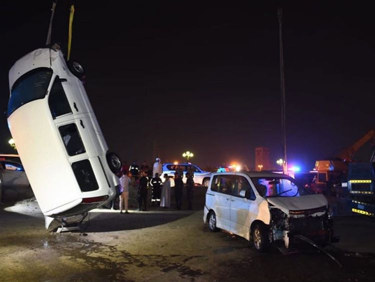 Sharjah car crash