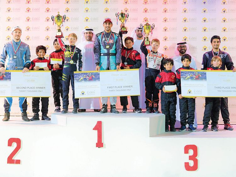 Winners of the Karting Championship
