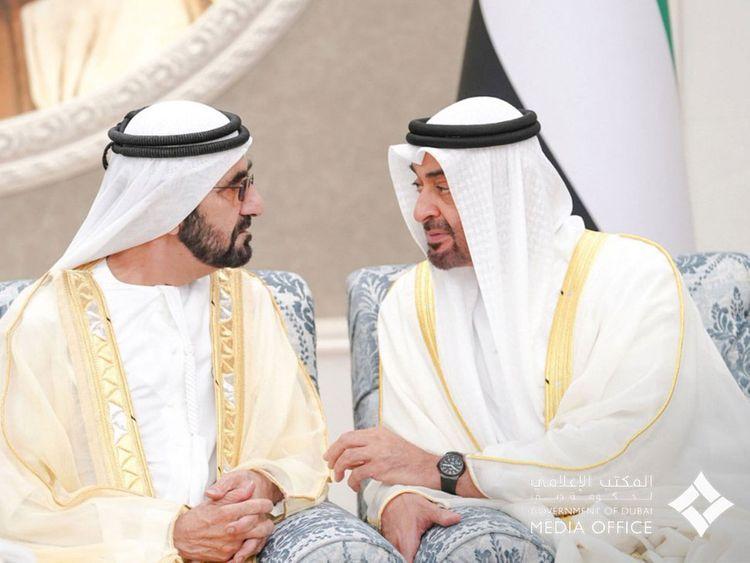 UAE leaders offer Eid Al Fitr prayers, receive well-wishers