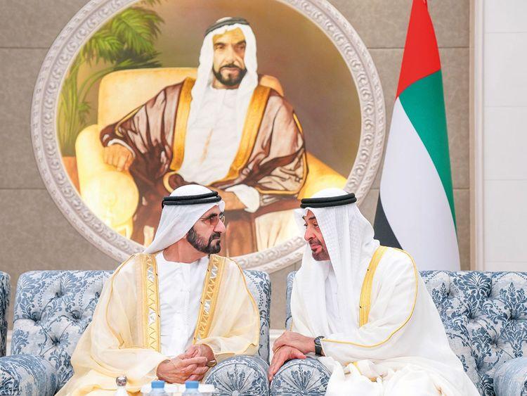 Shaikh Mohammad Bin Rashid and Shaikh Mohammad Bin Zayed
