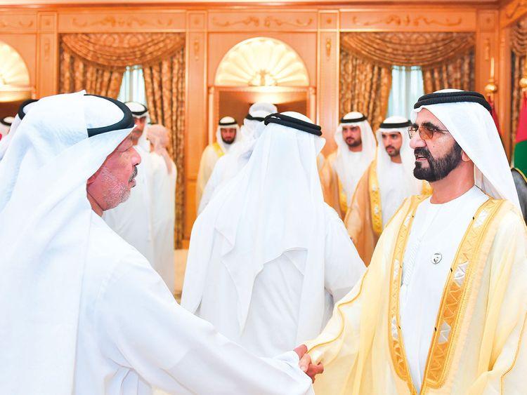 Shaikh Mohammad Bin Rashid receives Eid Al Fitr greetings