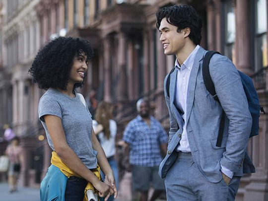 Yara Shahidi and Charles Melton in The Sun Is Also a Star-1559643655812