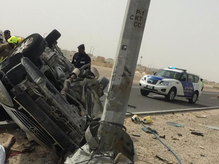 Three Emirati siblings road accident
