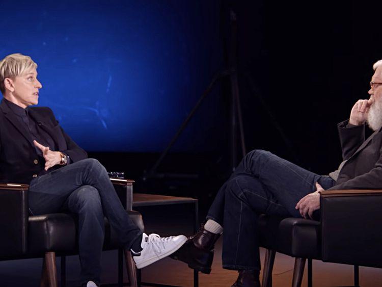tab David Letterman with  Ellen DeGeneres  'My Next Guest Needs No Introduction' on  Netflix-1559729707057