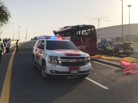 15 people killed in bus accident in Dubai