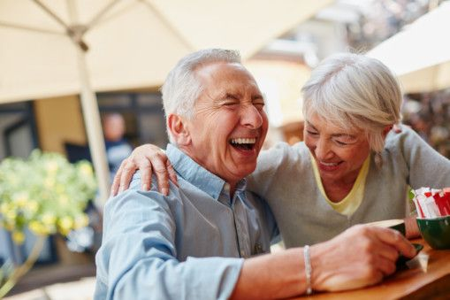 OPN  elderly man and a woman in a happy mood-1559821291525