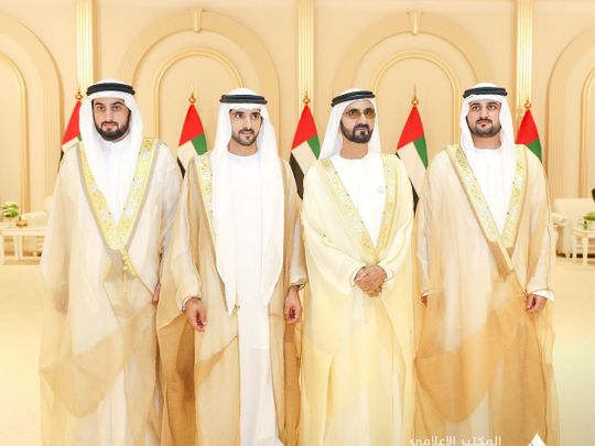 Shaikh Mohammad with his sons